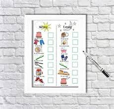 Details About Kids Routine Chart Toddler Chores Print Daily Visual Aid Autism Adhd Unframed