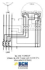wiring diagrams bay city metering nyc  3p 4w y circuit