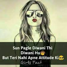 Attitude Girl Image With Quotes