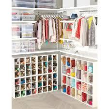 Closet shoe organizer and clothes