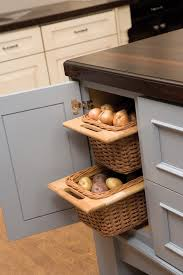 open weave pull out baskets from dura supreme cabinetry in kitchen cabinets are great for