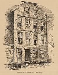 jonathan swift the house in which swift was born 1865 illustration