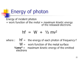 1 photoelectric effect 2 what is it when