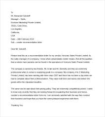 Sample Job Reference Letter Doc   Shishita world com Template net College Recommendation Letter Format