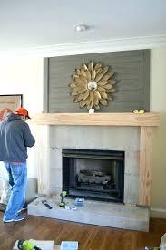 redo fireplace makeover wood mantel build renovate brick redoing a remodel design ideas b