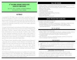 3rd National Organic Agriculture Scientific Conference