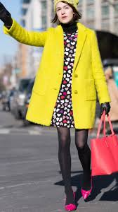 winter coats to in bright red blue yellow and more bright colors glamour
