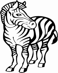 Small Picture Zebra Coloring Pages