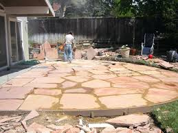 flagstone patio pictures ideas with firepit cost canada