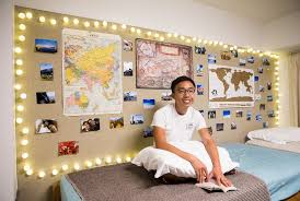 students personalize dorm rooms with
