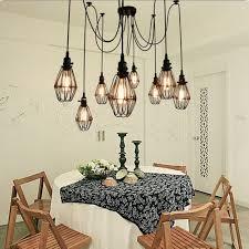 Vintage Deckenleuchte Sun Run Hängende Beleuchtung Edison Mehrere Verstellbare Diy Spinnenlampe Licht Metall Drahtkäfig Anhänger Beleuchtung