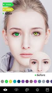 magic eye color free swap face red eyes effect makeup photo editor screenshot