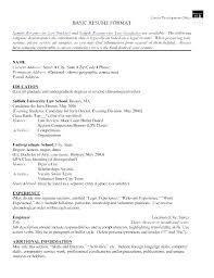 Legal Resume Format Baby Eden