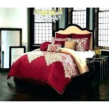 cream and gold comforter set bedding burdy red