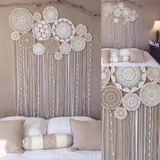 Headboard Alternative Ideas Pretty Headboard Alternative From Vintage Doilies From Feather
