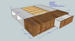 storage bed plans. King Size Storage Bed Plans Or Sketches To Work Off Of Full Secondly Queen Free For Building A Cal Platform O