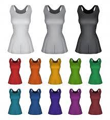 Plain Female Netball Dress Template On White Vector