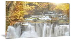 autumn huai mae kamin waterfall metal wall art 28x12  on waterfall metal wall art with autumn huai mae kamin waterfall metal wall art 28x12 groupon