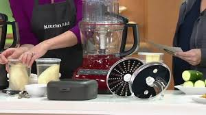 kitchenaid 9 cup exactslice food processor with julienne disc. on-air presentation kitchenaid 9 cup exactslice food processor with julienne disc e