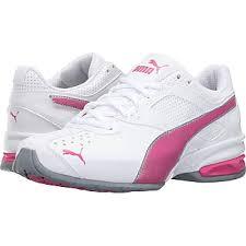 puma shoes pink and white. puma tazon 6 wide fm (puma white/fuchsia) womens shoes pink and white t