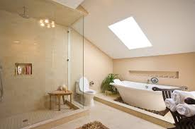 Bathroom Design Ideas Futuristic Hidden Lighting White Beige - Beige bathroom designs
