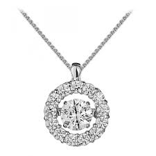 18ct 1 00ct halo design diamond pendant