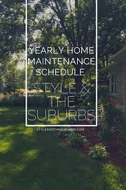 Good Yearly Home Maintenance Schedule By Season