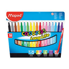 "Цена на Набор <b>фломастеров Maped</b> ""<b>Color peps</b> Long Life"" 18 цв ..."