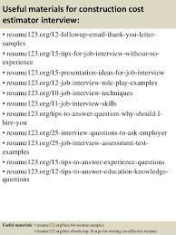 Construction Estimator Resume Sample Civil Estimator Resume Sample