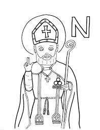 Small Picture Santa Claus Saint Nicholas Coloring Pages With St New Page glumme