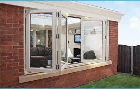 bi fold window from linear bifold plus profile