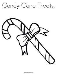Small Picture Candy Cane Treats Coloring Page Twisty Noodle