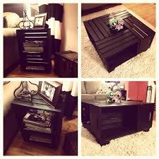 wine crate coffee table and end table wine crates from michaels built a frame
