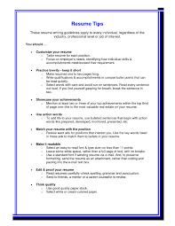 Resume Writing Advice Updated Resume Formattingps Objective Examples