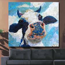 cow painting on canvas ideas for beginners spray shoes standard sizes in cm