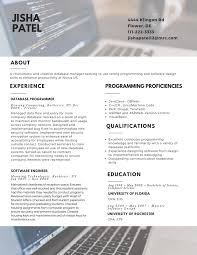 Modern resume 2017