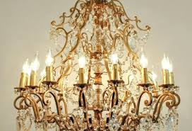 vintage french chandelier vintage french cut crystal brass frame sixteen arms chandelier vintage french style lighting
