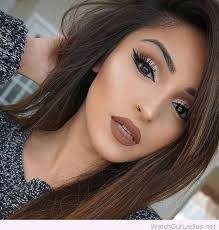 awesome brown hair and make up love her golden del