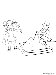 Games In The Sand Coloring Page Coloring Pages