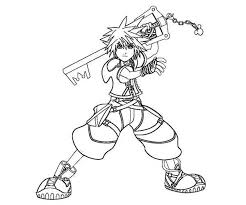 Small Picture Sora is Keyblade Wielder Coloring Page NetArt