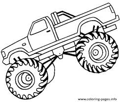 Truck Coloring Pages Printable Monster Truck Cupcake Toppers Fancy