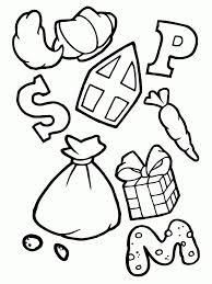 Letter Snoepjes Cadeautjes Van Sinterklaas Kleurplaat Nieuwe