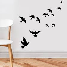 Wall Decor Stickers For Living Room Aliexpresscom Buy Flying Pigeon Bird Wall Art Stickers Decal