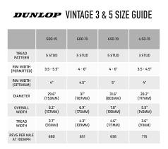 Dunlop Kart Tire Chart Buy Dunlop Vintage 3 5 Stud Tyres Demon Tweeks