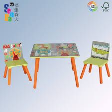 bebe style childrens wooden table and chair set crayon themed