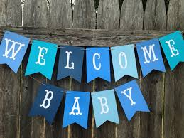 Welcome Home Baby Boy Banner Welcome Baby Banner Welcome Baby Sign Baby Boy Shower