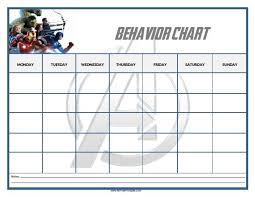 Avengers Potty Chart Free Printable Avengers Behavior Chart Free Printable