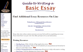 online tools and resources for academic essay writing guide to writing a basic essay