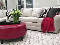 ethan allen sectionals dc metro sectional sofas with square decorative pillows living room transitional and leather