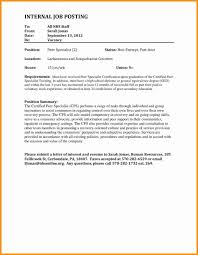 Internal Promotion Cover Letters Sample Application Letter For Job